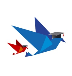 Bird concept for education vector image vector image