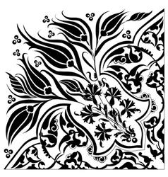 Black oriental ottoman design twenty eight vector