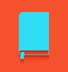 Book sign whitish icon on brick wall as vector