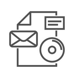 Branding line icon vector image
