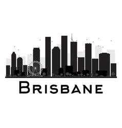 Brisbane silhouette vector