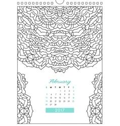 Calendar 2017 for coloring vector