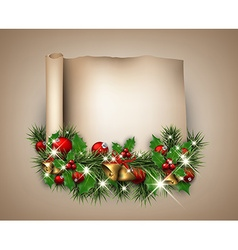 Christmas congratulatory background vector image