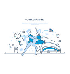 couple in beautiful clothes sdelicate ballet vector image vector image