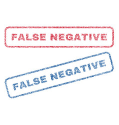 False negative textile stamps vector