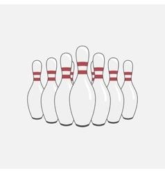 Group of Bowling Pins vector image