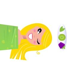 healthy skin girl vector image vector image
