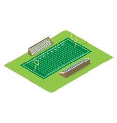 Isometric american football field vector