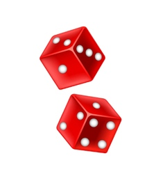 Lucky dice isolated on white vector image vector image