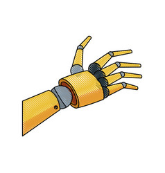 mechanical robotic hand innovation technology vector image