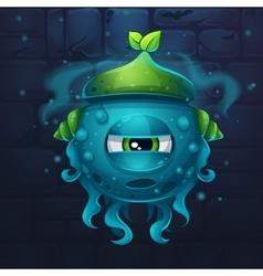 Monsters cartoon slug nature vector image