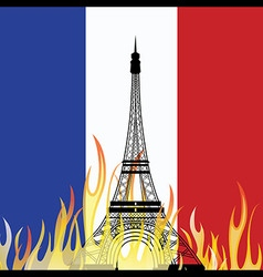 PARISFRANCE - Friday 13th November 2015 terror vector image vector image