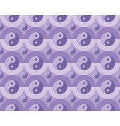 pattern yin yang symbols vector image