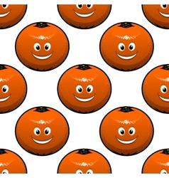 Seamless pattern of oranges fruits vector