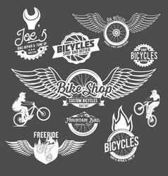 Set of bicycle badges vector