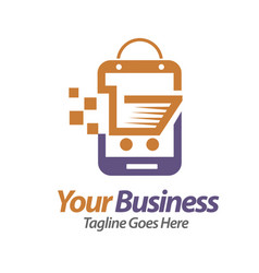smartphone store vector image