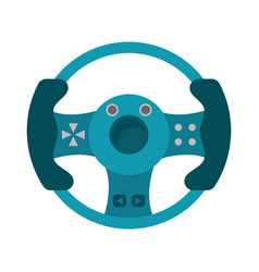 Steering wheel video game vector