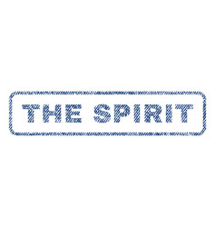 The spirit textile stamp vector