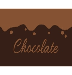Trickling dark chocolate and label vector