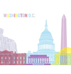 Washington dc skyline pop vector