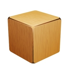 Wooden cube box vector