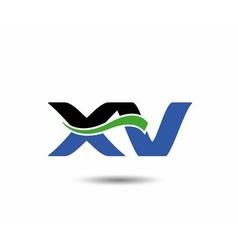 XV logo vector image vector image