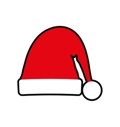 Santas hat merry christmas icon graphic vector
