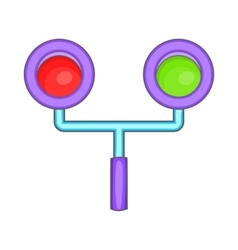 Traffic light for trains icon cartoon style vector