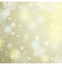 Light beige background with snowflakes and stars vector