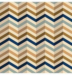 Zigzag chevron pattern in retro colors vector