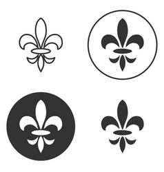 Collection of fleur de lis symbols black vector