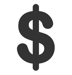Dollar flat icon vector