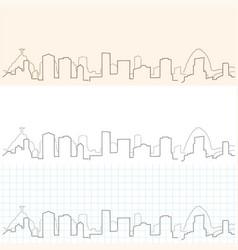 rio de janeiro hand drawn skyline vector image