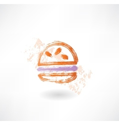 Hamburger grunge icon vector