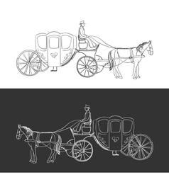 doodle coach vector image