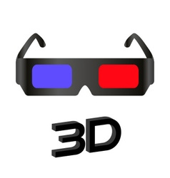 3d glasses with blue and red color eps10 vector