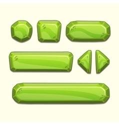 Green buttons set vector