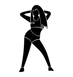Unique dance simple sign vector