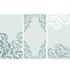 Set of vintage greeting cards vector