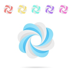 Spiral colored segmented circles vector