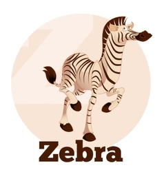 Abc cartoon zebra vector