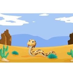 Snake in the desert vector image