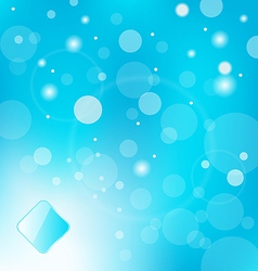 abstract blue light with label background - vector image vector image