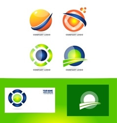 Abstract sphere circle logo vector image