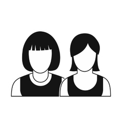 Avatar two female icon vector