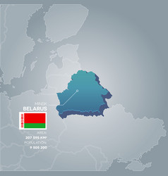 Belarus information map vector