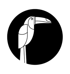 Brazilian toucan bird nature pictogram vector