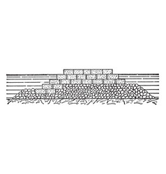 Cette breakwater structures on coasts as part of vector