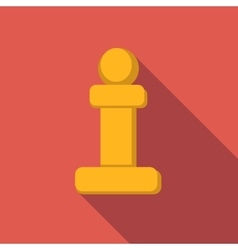 Chess pawn flat icon vector image