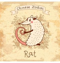 Chinese Zodiac - Rat vector image